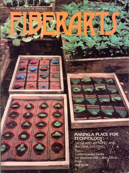 Moment of glory!--knitted planter boxes make the cover of Fiber Arts!