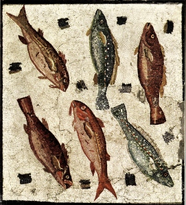 Fish mosaic, Museo Nazionale Romano